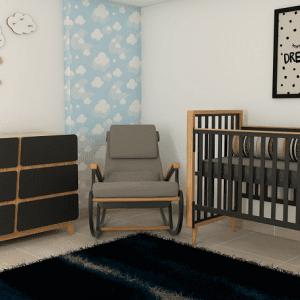 חדר נוי – שחור שילוב עץ – רהיטי שניר