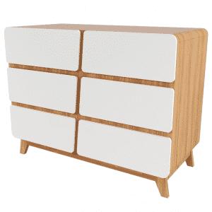חדר נוי – לבן שילוב עץ – רהיטי שניר