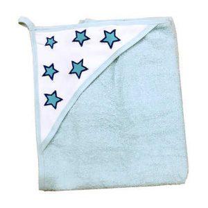 מגבת קפוצ'ון עבה במיוחד – כוכבים תכלת