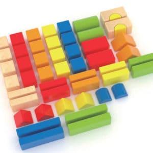 קוביות עץ 80 חלקים