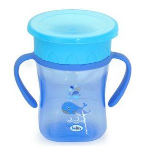 כוס אימון 360° עם ידיות אחיזה טוויגי -כחול