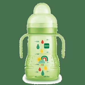 """בקבוק אימון עם ידיות מאמ 220 מ""""ל ירוק"""