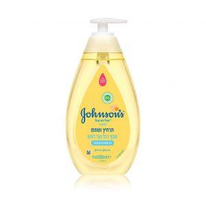 """ג'ונסונס – תרחיץ ושמפו לתינוק מכף רגל ועד ראש 500 מ""""ל"""