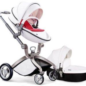 עגלת תינוק מאובזרת  Hot Mom מבית BabySafe צבע לבן