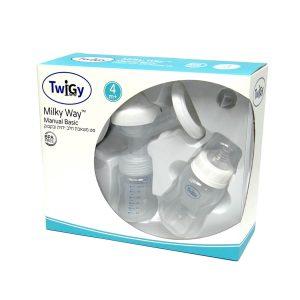 סט משאבת חלב ידנית ובקבוק – Milky Way – Manual Basic טוויגי Twigy