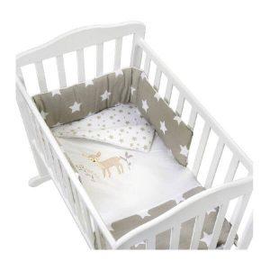 סט עריסה לתינוק במבי כוכבים