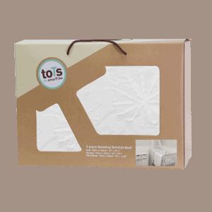 """סט מצעים למיטת תינוק  """"toTs"""" פרח לבן"""