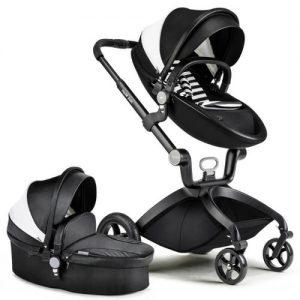 עגלת תינוק מאובזרת  Hot Mom מבית BabySafe צבע שחור