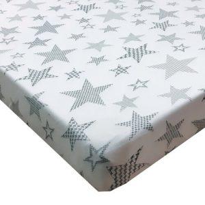סדין מיטת תינוק ומעבר מודפס כוכבים גדולים צבעים שונים