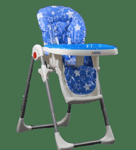 כיסא האכלה דגם LUNCH – בייבי מישל – כחול כוכבים