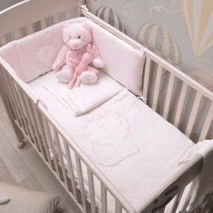 """סט מצעים למיטת תינוק  """"toTs"""" ורוד מלאנג'"""