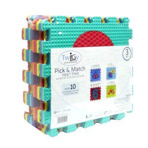 """פאזל רצפה 10 חלקים 30×30 ס""""מ – Pick & Match – Shrink טוויגי Twigy"""