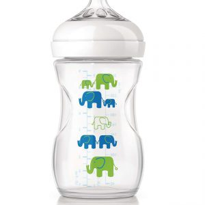 """בקבוק אוונט 260 מ""""ל פילים ירוק כחול"""