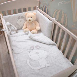 """סט מצעים למיטת תינוק  """"toTs"""" קלאסיק מלאנג'"""