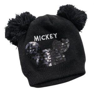כובע מיני פונפונים שחור גילאי 3+