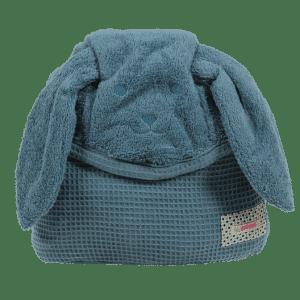 מגבת עם קשירה לצוואר מיננה כחול