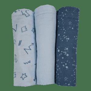 שלישיית חיתולי במבוק כחול – MAMO