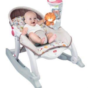 נדנדת טרמפולינה חיות לתינוק 5 ב 1 כולל חיישן קול