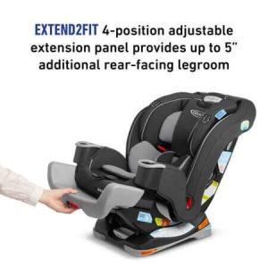 """כיסא בטיחות גרקו EXTEND2FIT GRACO – אפור מלידה עד 29 ק""""ג"""