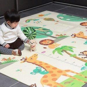 """שטיח פעילות מתקפל עשוי XPE איכותי דו-צדדי  עובי 1 ס""""מ 200 על 150"""