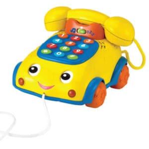 טלפון נגרר מנגן צהוב
