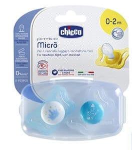 זוג מוצצי סיליקון 0-2M מיקרו – Micro Silicone צ'יקו Chicco