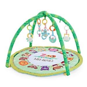 משטח פעילות עם קשת צעצועים – גן חיות