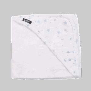 מגבת במבוק עם כובע  ורוד כוכבים – מיננה