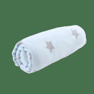 סט מצעים לעריסת תינוק – כחול כוכבים – מיננה