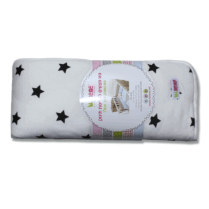 סט מצעים לעריסת תינוק – שחור לבן – מיננה