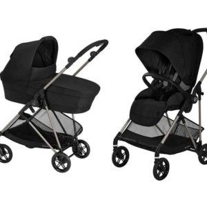 עגלת תינוק משולבת Melio  צבע שחור – סייבקס