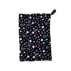 סינר הנקה 100% כותנה – כוכבים צבעוני רקע כחול – בייביקו