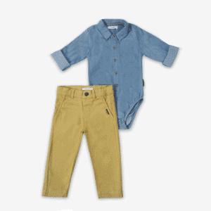 סט ב.גוף ומכנסיים הולידיי – מיננה