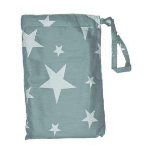 סינר הנקה 100% כותנה – כוכב אפור – בייביקו