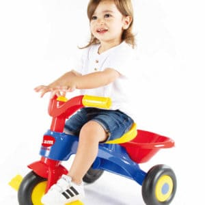 תלת אופן לילדים עם צופר IAM ורוד סגול