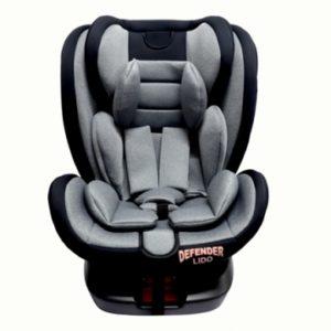 כיסא בטיחות LIDO ISOFIX מבית DEFENDER צבע אפור בהיר מלאנז'