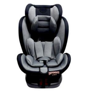 כיסא בטיחות LIDO ISOFIX מסתובב – אפור בהיר מלאנז'