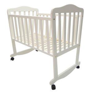עריסת עץ לתינוק דגם SLEEPY – צבע לבן