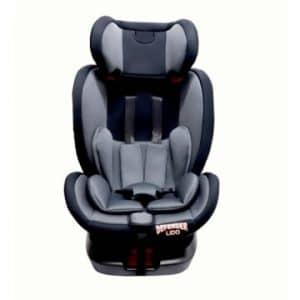כיסא בטיחות LIDO ISOFIX מסתובב – אפור כהה שחור