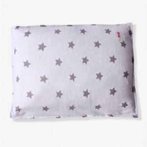 ציפית לכרית תינוק – אפור כוכבים – מיננה