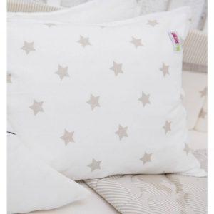 ציפית לכרית תינוק -שמנת כוכבים – מיננה