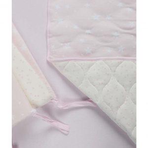 סט מצעים למיטת תינוק – מיננה – ורוד כוכבים
