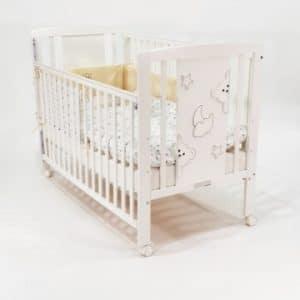מיטת תינוק דגם טדי -צבע שמנת – בייבי מישל