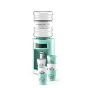 סט בר מים עם כוסות – ירוק
