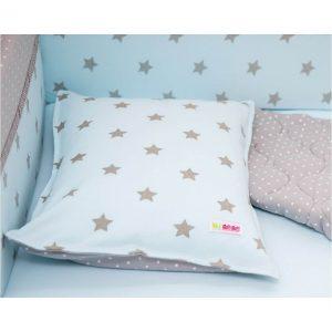 ציפית לכרית תינוק – תכלת כוכבים – מיננה
