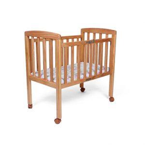 """עריסה מעץ מתקפלת לתינוק דגם """"רפאל"""" – צבע עץ טיבעי"""