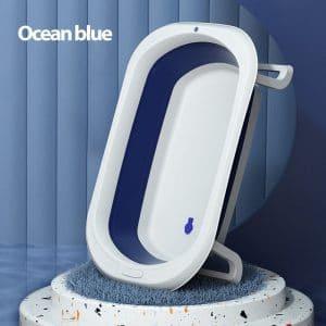 אמבטיית סיליקון מתקפלת – נרקיס – כחול